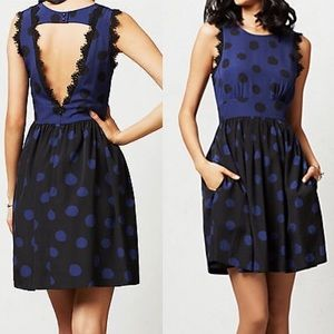 ANTHRO | polka dot lace dress